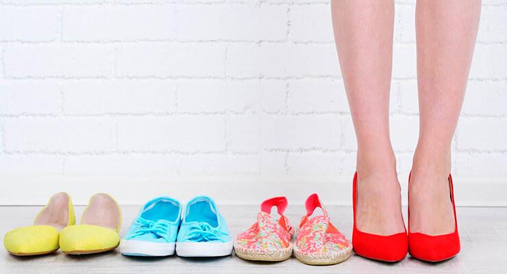 Ношение неудобной обуви.