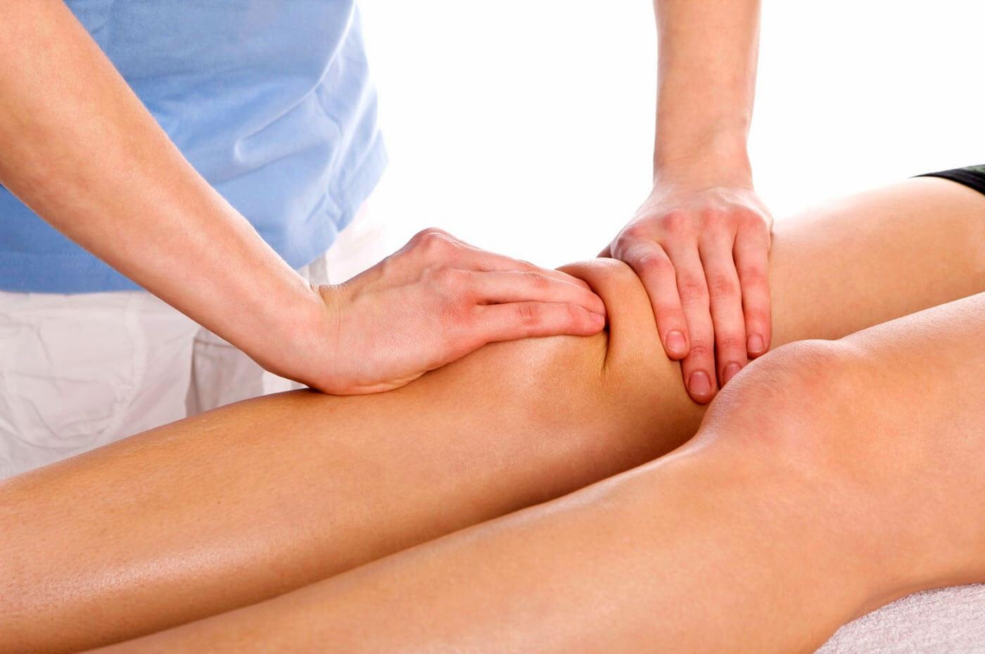 Лечебный массаж для коленного сустава